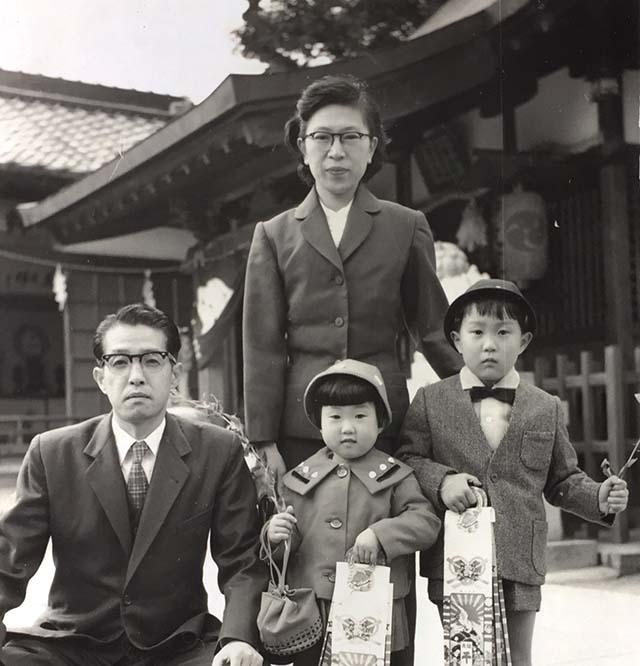 藤田美保子として生きてきて家族写真