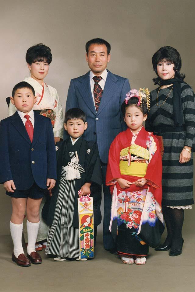 坂理泰幸として生きてきて家族写真