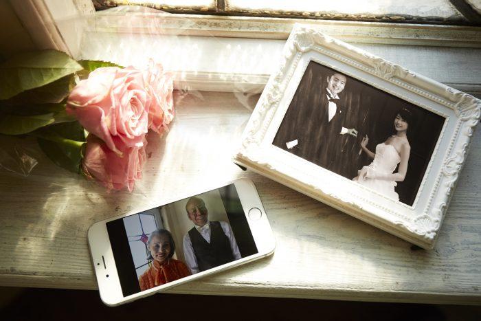 金婚式の写真